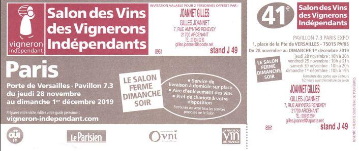 gilles joannet artisan liquoriste arcenant On porte de versailles salon des vignerons independants